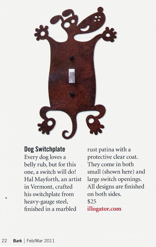 Dog Switchplate in Bark Magazine