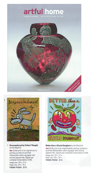 2 New Prints Available from The Artful Home Christmas Catalogue